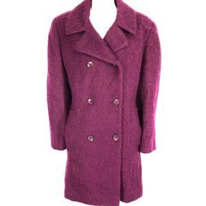 LORING Mohair Wool Double Breast Vintage Coat ~ 8